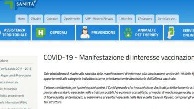 Photo of Coronavirus: vaccinazioni, dal 18 gennaio piattaforma aperta per ultra 80enni e persone con disabilità